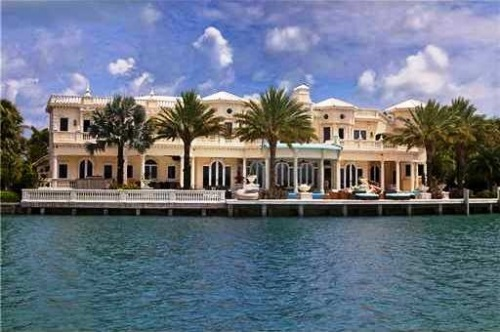 Bal Harbour Mansion - view from Biscayne Bay