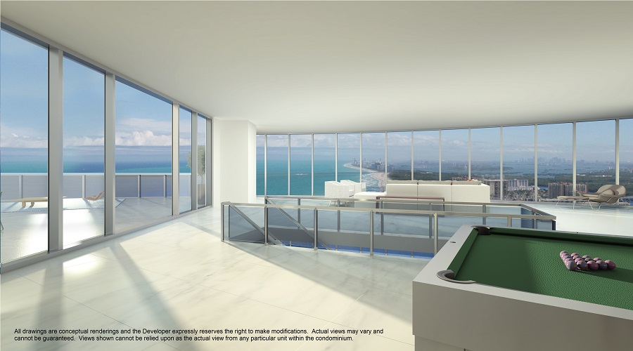 Porsche tower ocean view