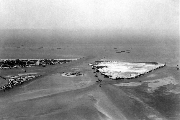 Fisher Island and Terminal Island in 1915 rare photo