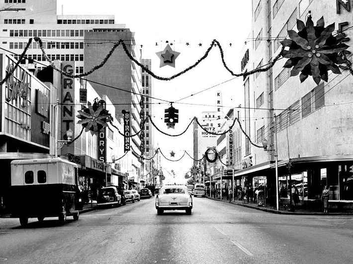 Flagler Street in Miami, FL 1955