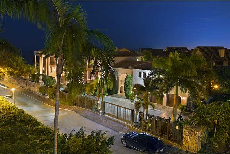 Lebron James home in Miami Coconut Grove neighborhood