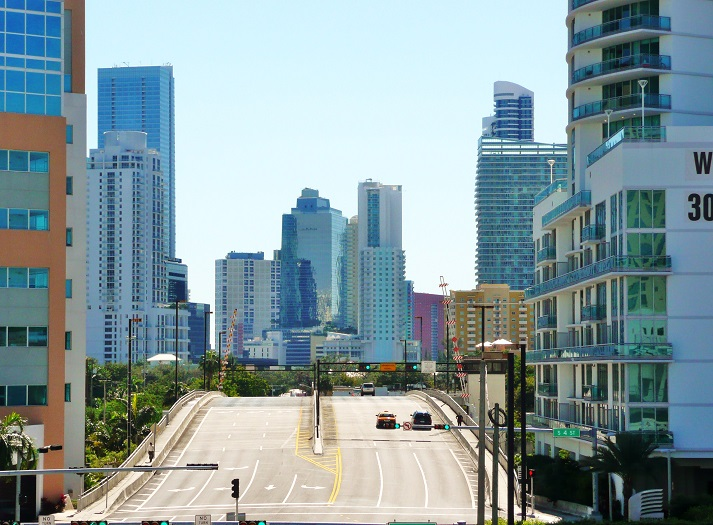 The city of Miami - Brickell Avenue