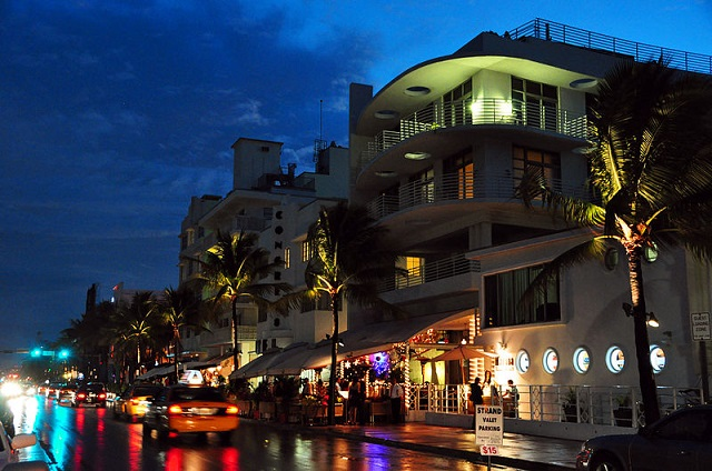 South Beach Night View - Miami Beach Florida