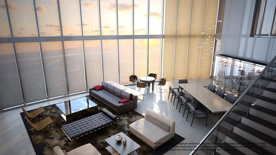 Porsche design tower penthouse level 1