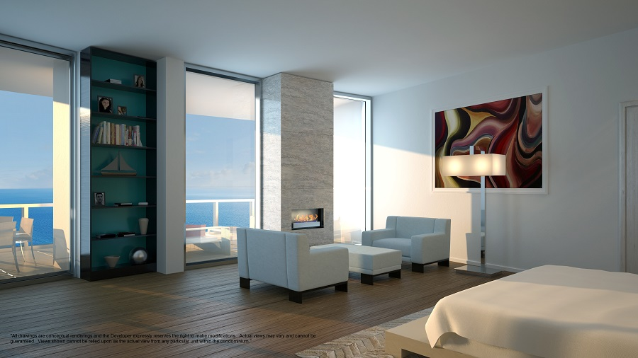 porsche design tower penthouse master bedroom 2