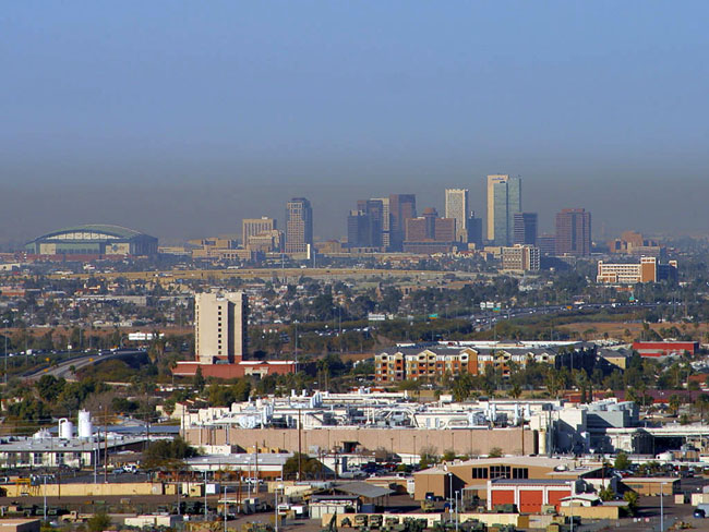 Phoenix Arizona real estate and homes - Phoenix  skyline