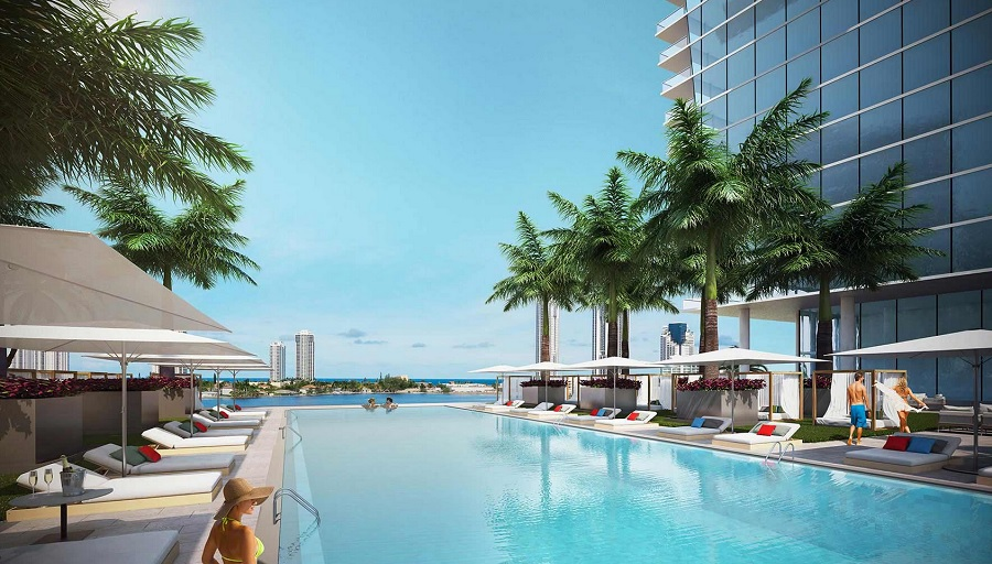 Prive condo pool deck