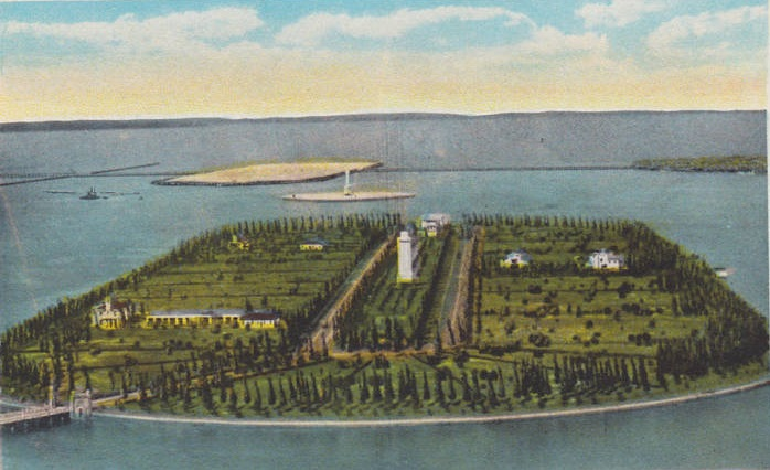 Star Island in 1925 - rare arial view