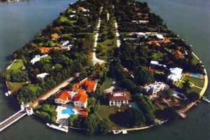 Sunset Islands real estate Miami Beach - arial view of Sunset Island