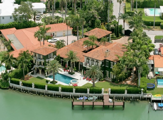 Anna Kournikova's house on Sunset Island
