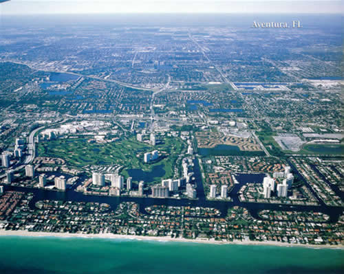 Aventura Real Estate, Aventura Florida arial view