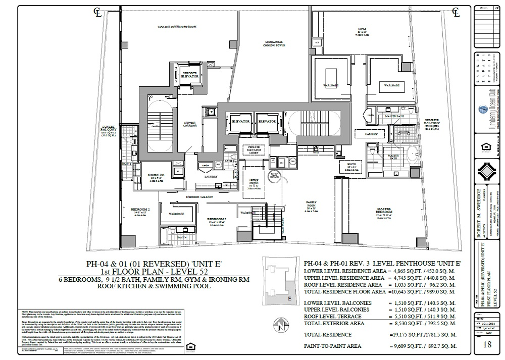 Turnberry Ocean Club Penthouse 04 qnd 01 floor plan