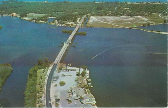 Vero Beach Florida  real estate -  1971 photo from the air